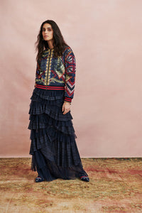 MAXI SKIRT WITH PLEATED TIERS THIS CHARMING WOMAN
