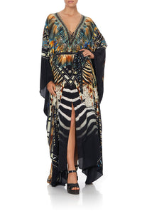 SPLIT HEM LACE UP KAFTAN LOST PARADISE