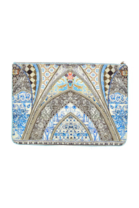 LOST IN A DREAM LARGE CANVAS CLUTCH