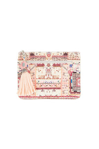 ON THE ROAD SMALL CANVAS CLUTCH