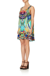 ROUND NECK A-LINE DRESS REEF WARRIOR
