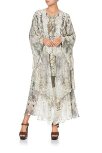 ROBE WITH DOUBLE LAYERED HEM DAINTREE DREAMING