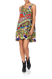 ROUND NECK A-LINE DRESS ARNOTTS