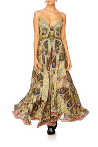 ECHOES OF ENCHANTMENT LONG DRESS W TIE FRONT