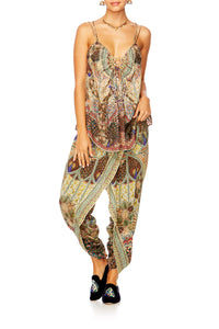 ECHOES OF ENCHANTMENT WRAP FRONT TROUSER