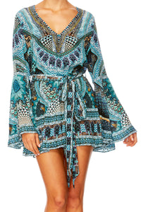 TURN ON THE CHARM WIDE SLEEVE PLAYSUIT