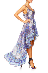 CAMILLA WINGS TO FLY HIGH LOW BUTTON DOWN DRESS