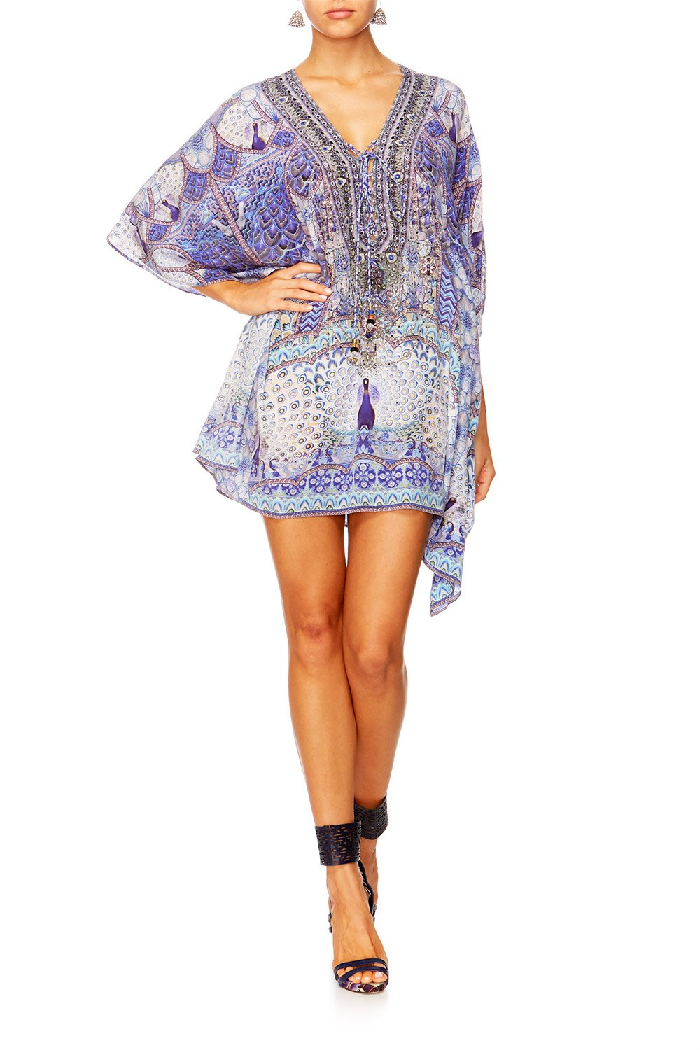 CAMILLA WINGS TO FLY SHORT LACE UP KAFTAN