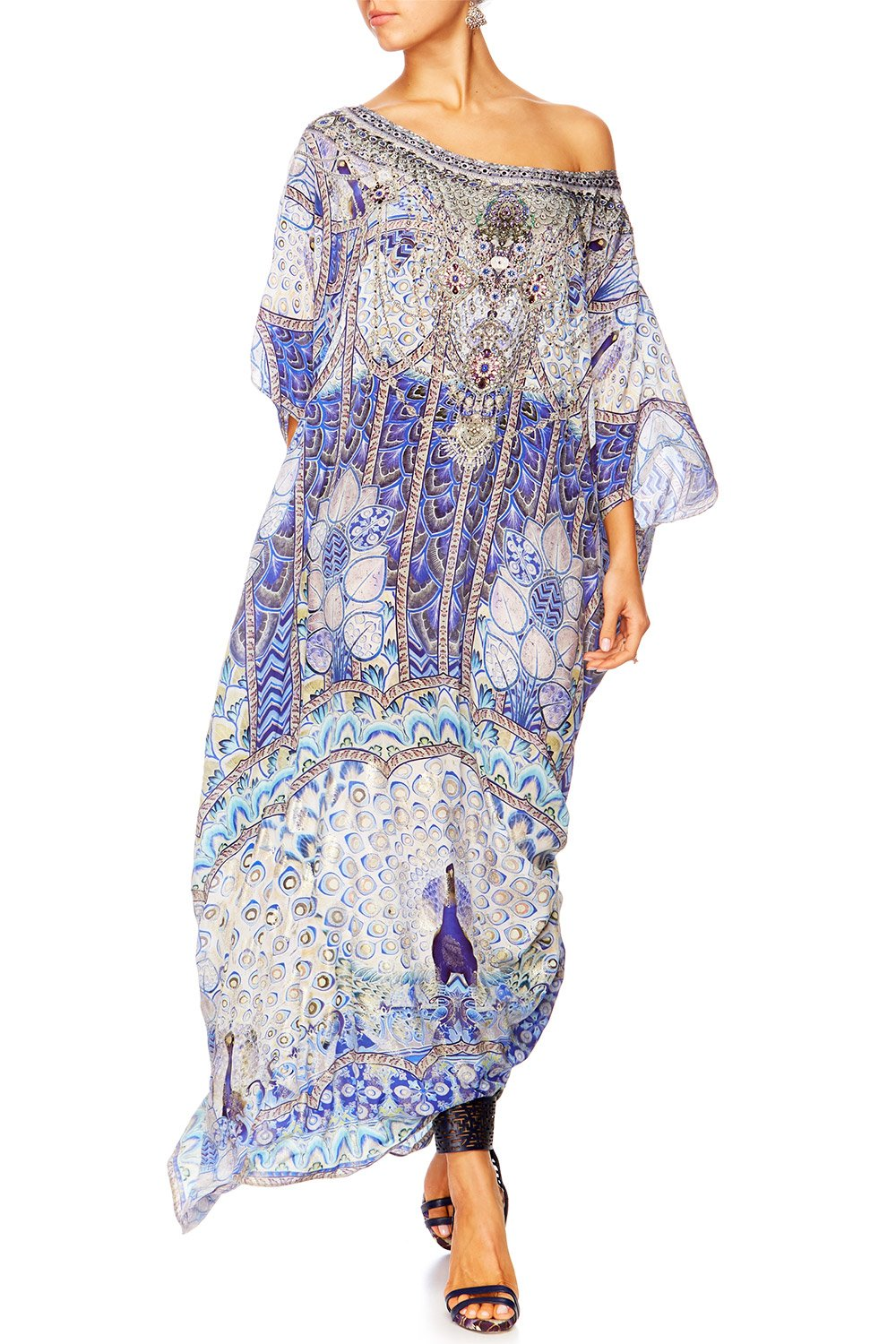 CAMILLA WINGS TO FLY ROUND NECK KAFTAN