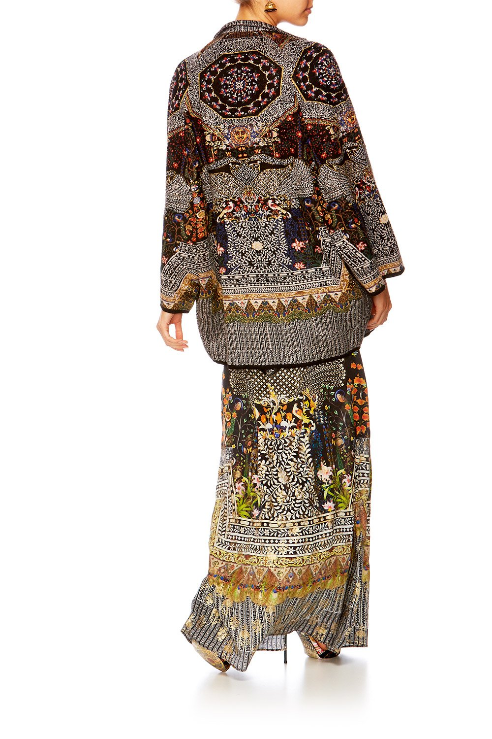 BEHIND CLOSED DOORS KNITTED COCOON PONCHO
