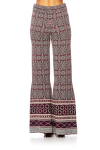 MAPPED OUT FLARED KNIT PANT
