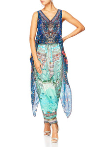 KINDNESS KALEIDOSCOPE HIGH LOW CROSS OVERLAY TOP