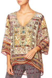INDIANA FRANKS V-NECK OVERSIZED BLOUSE