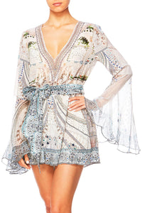 BREAKFAST WITH SILVIA WIDE SLEEVE PLAYSUIT