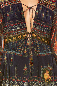 BLISS OF BOHEMIA SHORT PEASANT DRESS