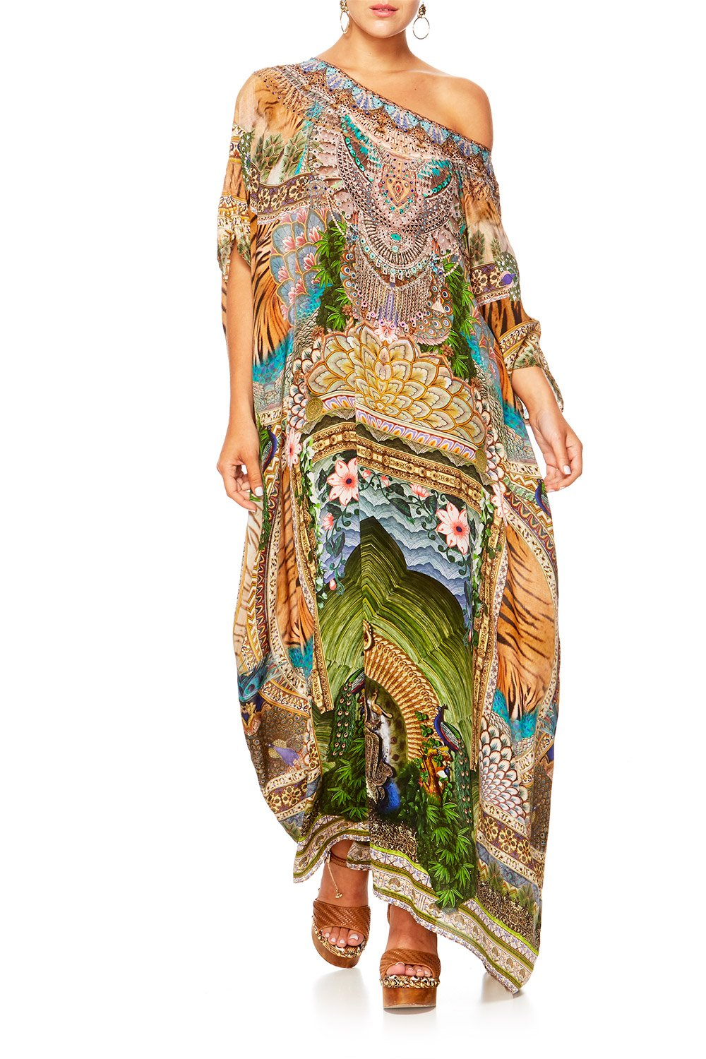 A WOMANS WISDOM ROUND NECK KAFTAN