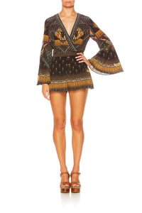 BLISS OF BOHEMIA BELLE SLEEVE PLAYSUIT