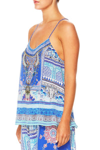 STRENGTH IN RAYS T-BACK SHOESTRING STRAP TOP