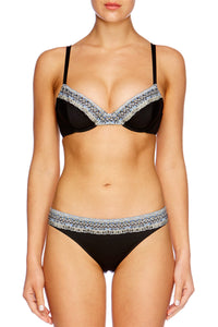 BLACK SOFT CUP UNDERWIRE BRA