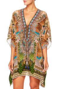 A WOMANS WISDOM SHORT LACE UP KAFTAN