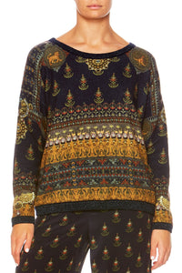 BLISS OF BOHEMIA REVERSIBLE CREW KNIT