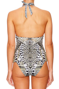 ANIMAL INSTINCT HALTER TANKINI