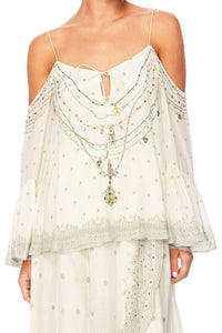GUIDING LIGHT DROP SHOULDER TOP