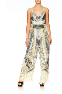 WEAVE ON GATHERED WIDE LEG JUMPSUIT