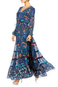 KINDNESS KALEIDOSCOPE SHEER TIERED CIRCLE SKIRT