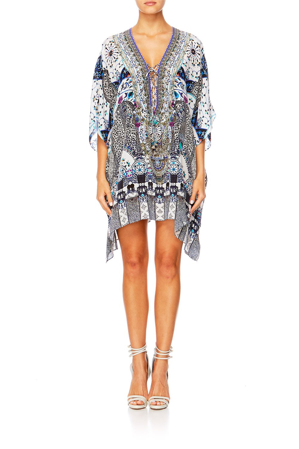 70cd2c164d SHORT LACE UP KAFTAN IN THE CONSTELLATIONS – CAMILLA