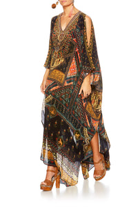 BLISS OF BOHEMIA SPLIT FRONT & SLEEVE KAFTAN