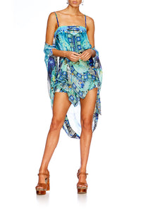 LEAVE ME WILD TIE DETAIL OVERLAY PLAYSUIT