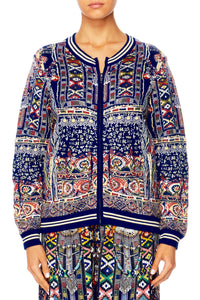 WHERE YOULL FIND ME JACQUARD BOMBER