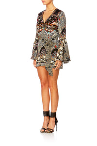 CHAMBER OF REFLECTIONS BUTTON FRONT PLAYSUIT
