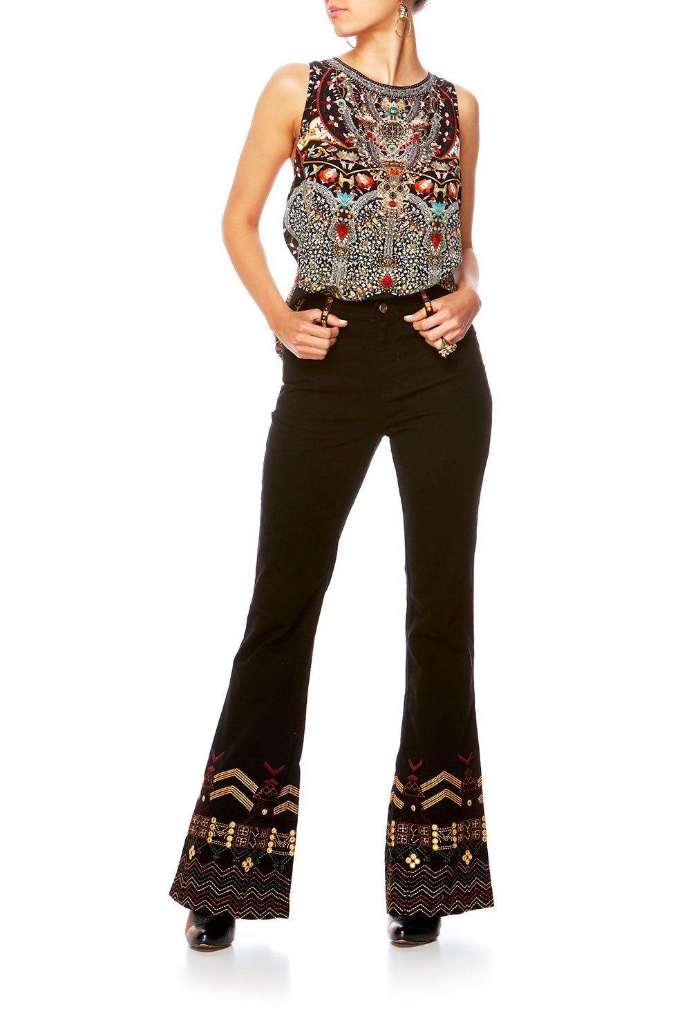THE PATH HIGH WAISTED FLARED JEAN