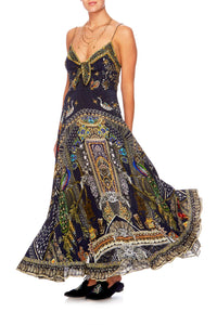 CHILDREN OF THE WORLD LONG DRESS W TIE FRONT
