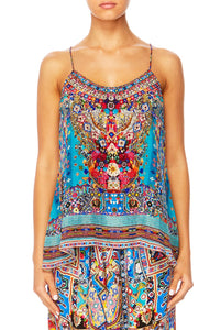 CANVAS OF COLOUR T-BACK SHOESTRING STRAP TOP