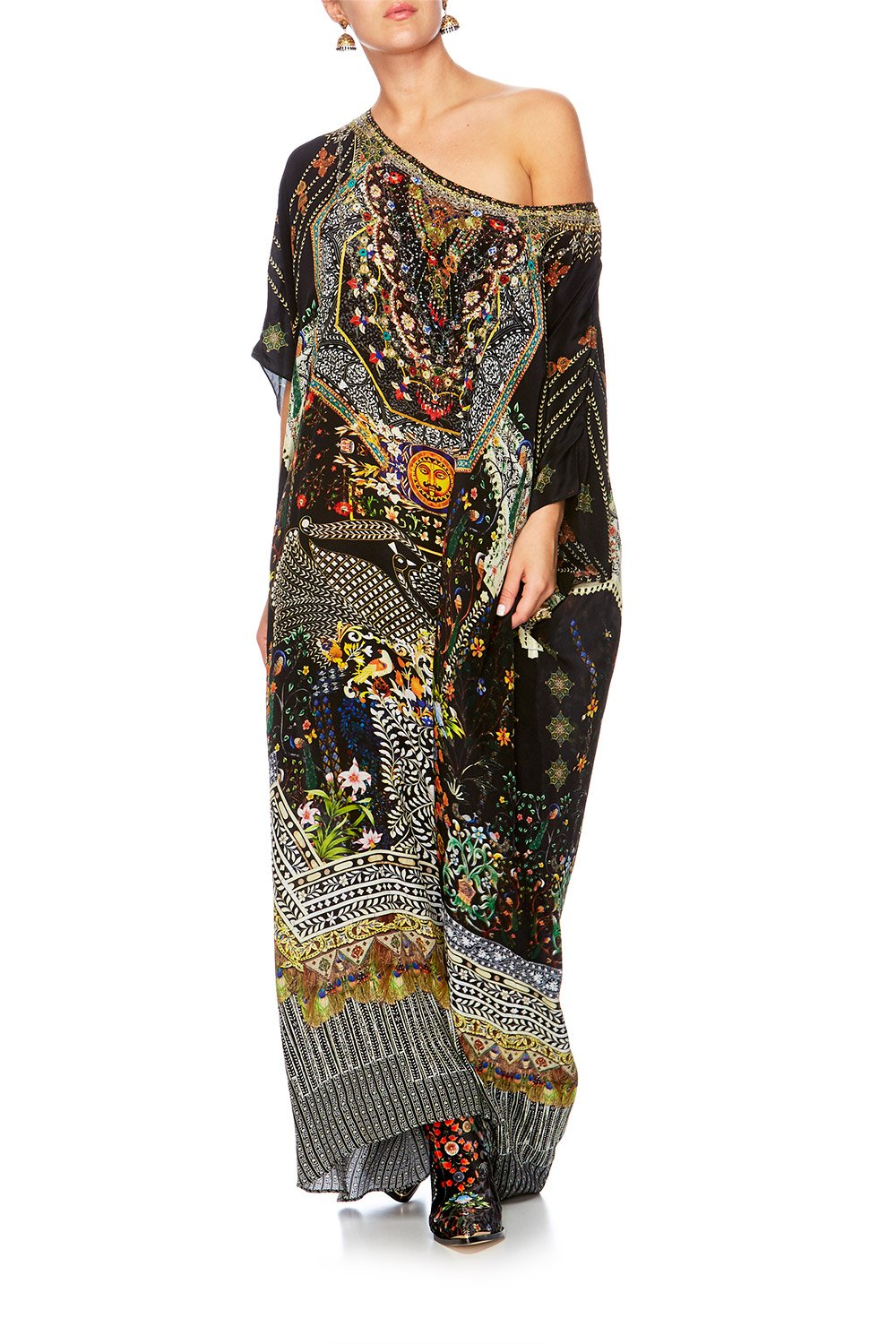BEHIND CLOSED DOORS ROUND NECK KAFTAN