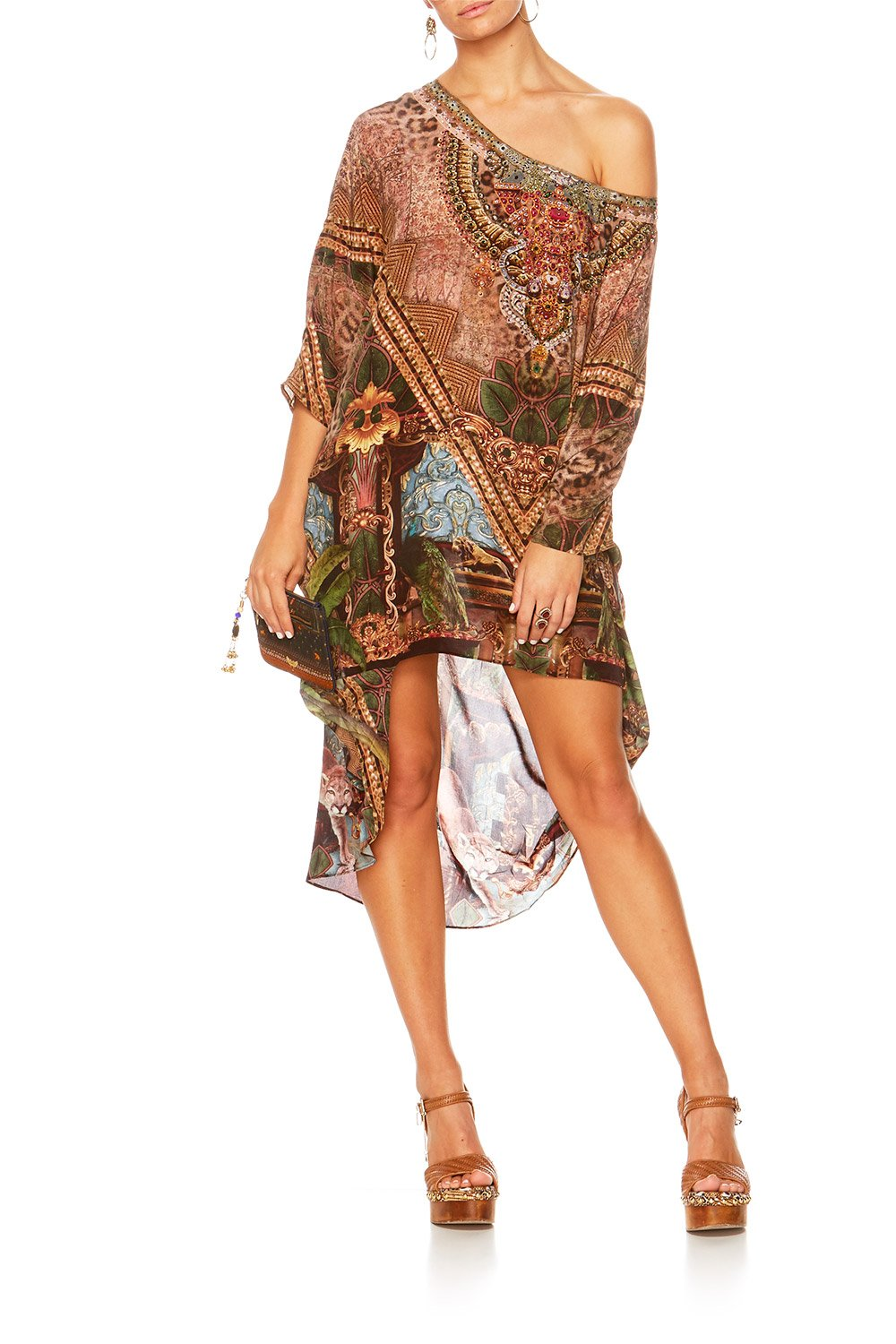 THE GYPSY LOUNGE SCOOP BACK HEM DRESS