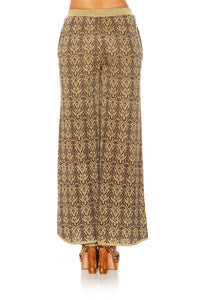 THE GYPSY LOUNGE FLARED KNIT TROUSER