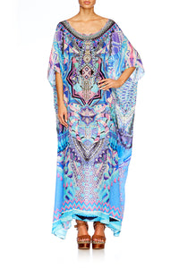 THREADS OF COSMOS ROUND NECK KAFTAN