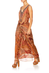 FAMILY GATHERING TIE FRONT DRESS MULTI WEAR