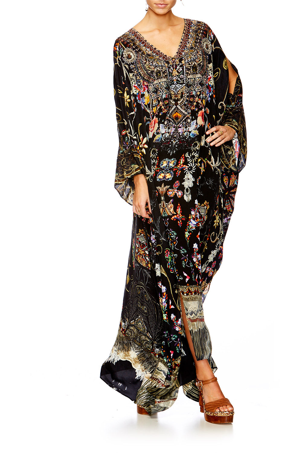 DANCING IN THE DARK SLIT FRONT & SLEEVE KAFTAN