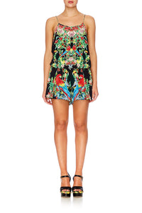 TOUCAN PLAY SHOESTRING STRAP PLAYSUIT