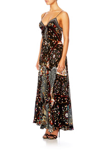 CHAMBER OF REFLECTIONS LONG DRESS W TIE FRONT