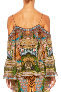A WOMANS WISDOM DROP SHOULDER TOP