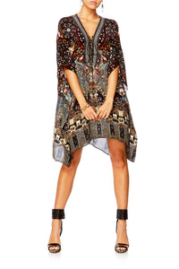 CHAMBER OF REFLECTIONS SHORT LACE UP KAFTAN