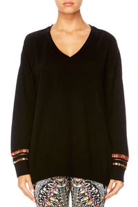 CHAMBER OF REFLECTIONS V-NECK LOOSE FIT JUMPER