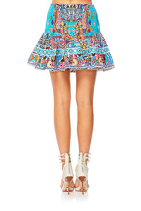 CANVAS OF COLOUR SHORT SHIRRED SKIRT