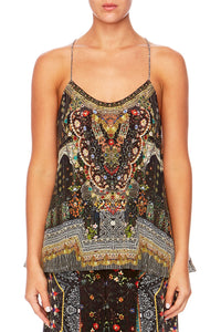 BEHIND CLOSED DOORS T-BACK SHOESTRING TOP